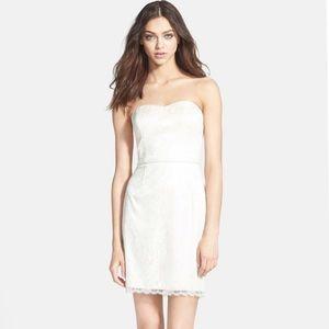 Aidan Mattox Ivory Lace Dress